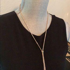 Rhinestone Adjustable long necklace